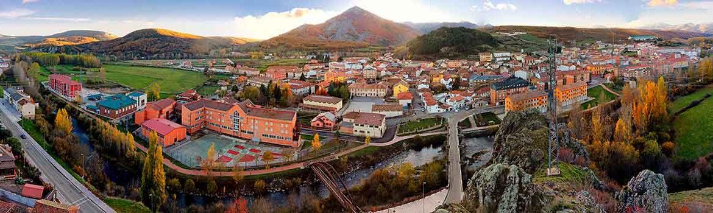 Panorámica del pueblo de Cervera de Pisuerga