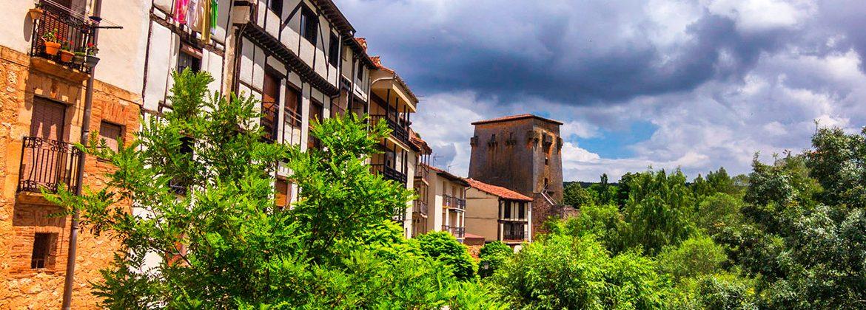 Panorámica del pueblo de Covarrubias