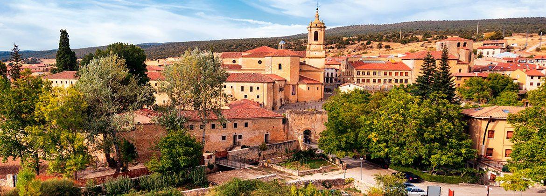 Panorámica del pueblo de Burgos Santo Domingo de Silos