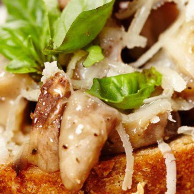 Mushrooms Au Gratin with Ibores Cheese Recipe