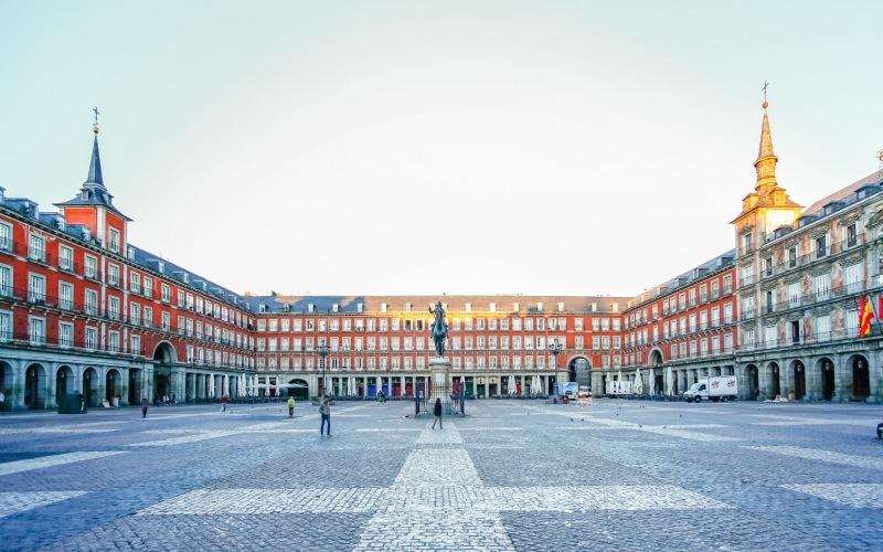 Vista panorámica de la Plaza Mayor de Madrid