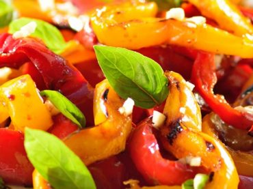 Receta de ensalada de pimientos asados