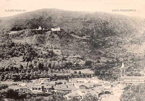 Antigua panoramica de Alajar