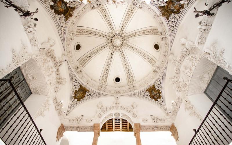 Palacio de Peñaflor cúpula interna
