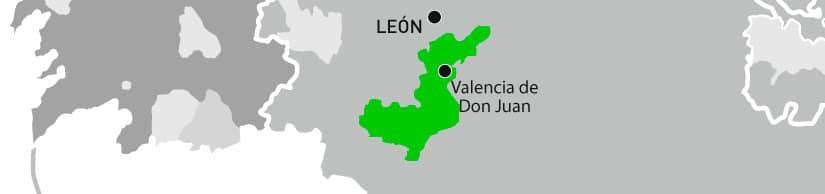 mapa denominación Pimiento Fresno-Benavente