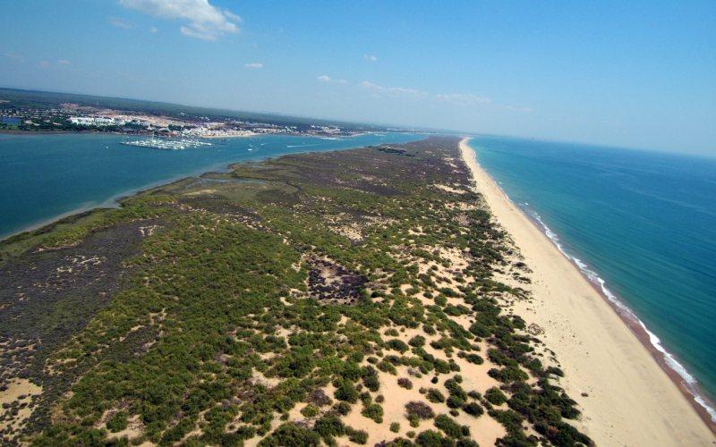 Playa de Nueva Umbría desde El Rompido