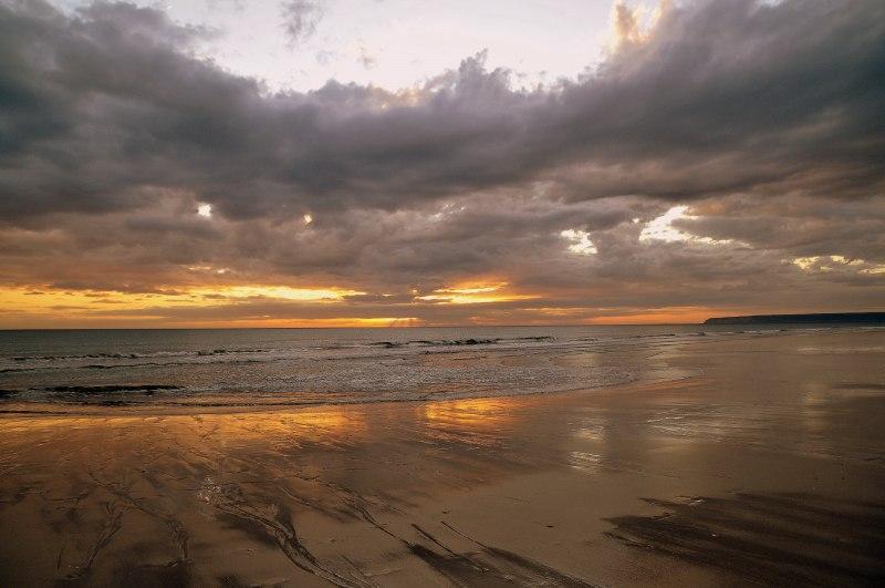 Playa de Zahara de los Atunes, Cádiz, al atardecer