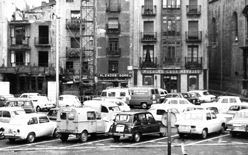 Foto Antigua de la Plaza del Mercado de Logroño
