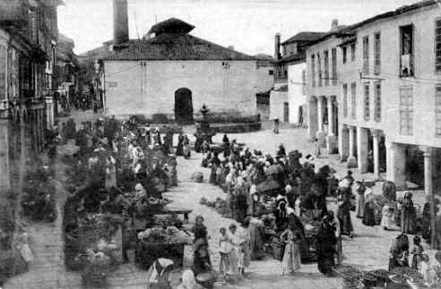 plaza verduras pontevedra foto antigua