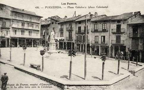 plaza cabrineti puigcerda foto antigua