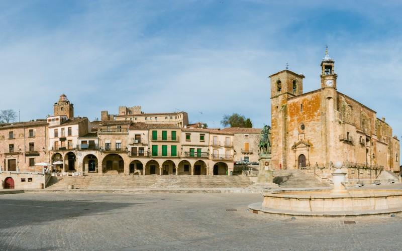 Panorámica Plaza Mayor de Trujillo, Cáceres