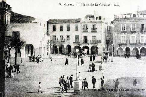 Plaza Grande de Zafra fotografia antigua