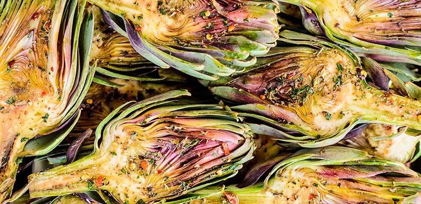 alcachofas alimentos temporada marzo