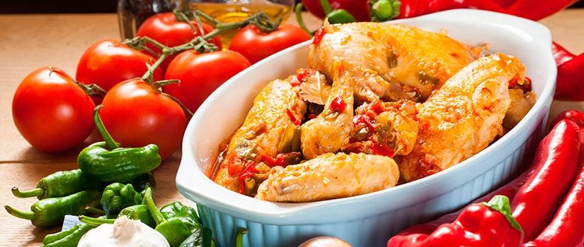 receta pollo chilindron