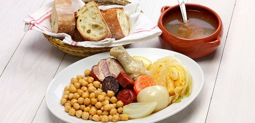 receta cocido madrileno