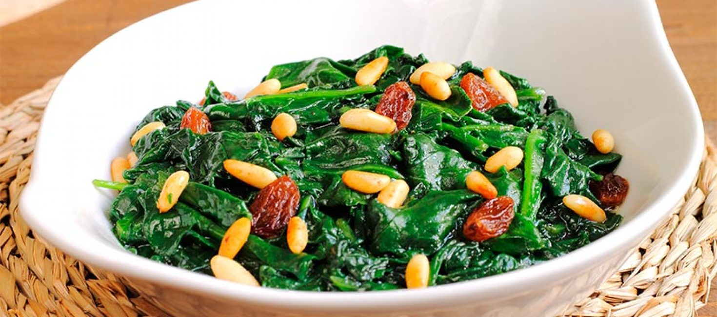 Catalan-style spinach recipe