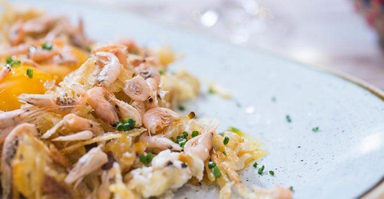Broken Eggs with Shrimps Recipe