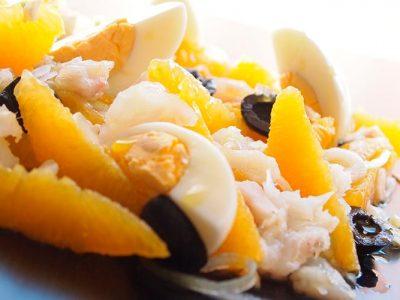 Receta de remojón de bacalao y naranja