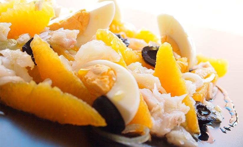 receta remojon bacalao naranja