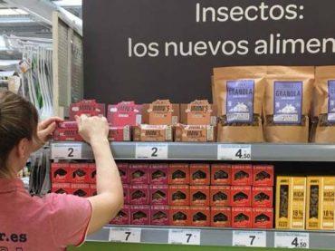Carrefour saca a la venta productos elaborados con gusanos y grillos
