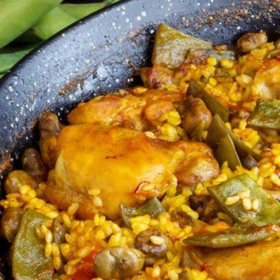 Receta de paella valenciana