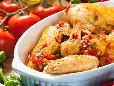 Receta de pollo al chilindrón
