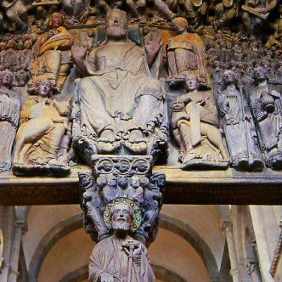 Pórtico de la Gloria de Santiago de Compostela, único en su especie