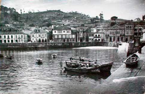 puerto baiona foto antigua