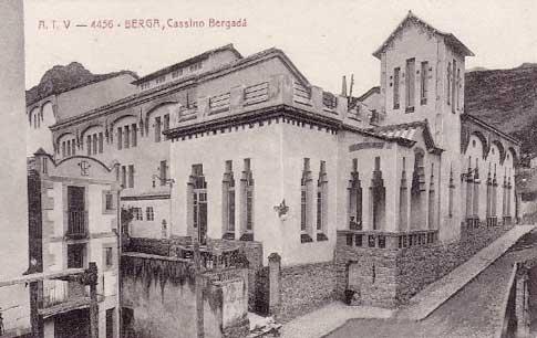 Casino de Berga, sur une vieille carte postale