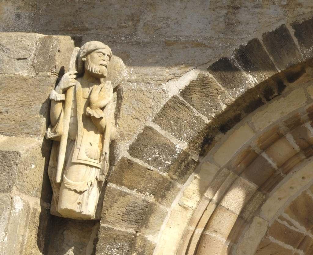 Primera imagen de Santiago Peregrino en Santa Marta de Tera