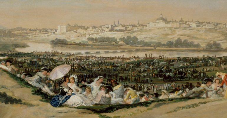 Las vistas de Goya desde la pradera de San Isidro   Cuadros con vida 3
