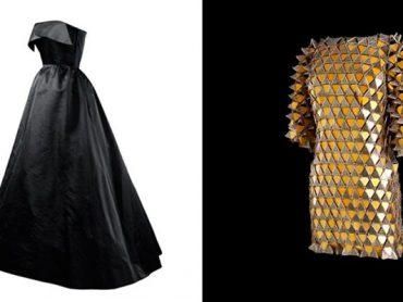 Balenciaga y Paco Rabanne , negro y oro