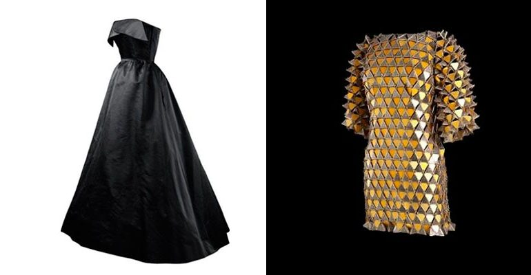 Balenciaga y Paco Rabanne, negro y oro