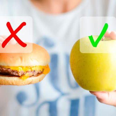 Antojos. Sustitúyelos por alimentos sanos