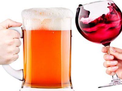 ¿Qué engorda más? ¿Vino o cerveza?