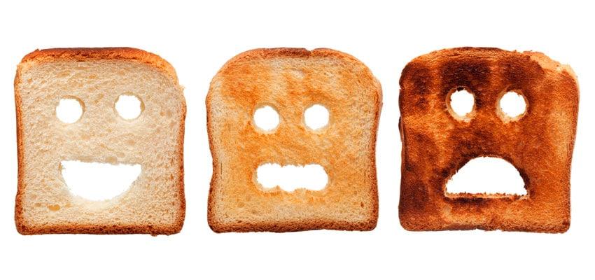 quemar tostadas