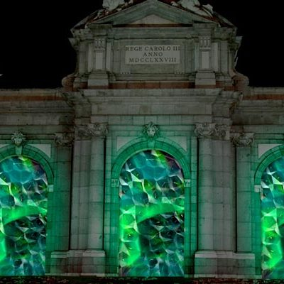Madrid se ilumina por la Luna de Octubre