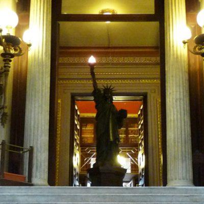 La estatua de la libertad de Barcelona