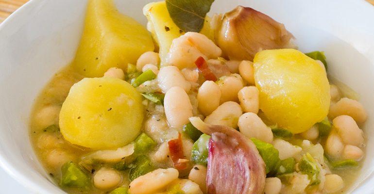 Receta española saludable: fabada asturiana