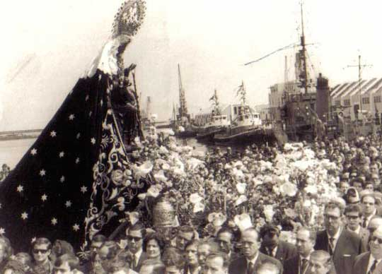 procesion de la patrona