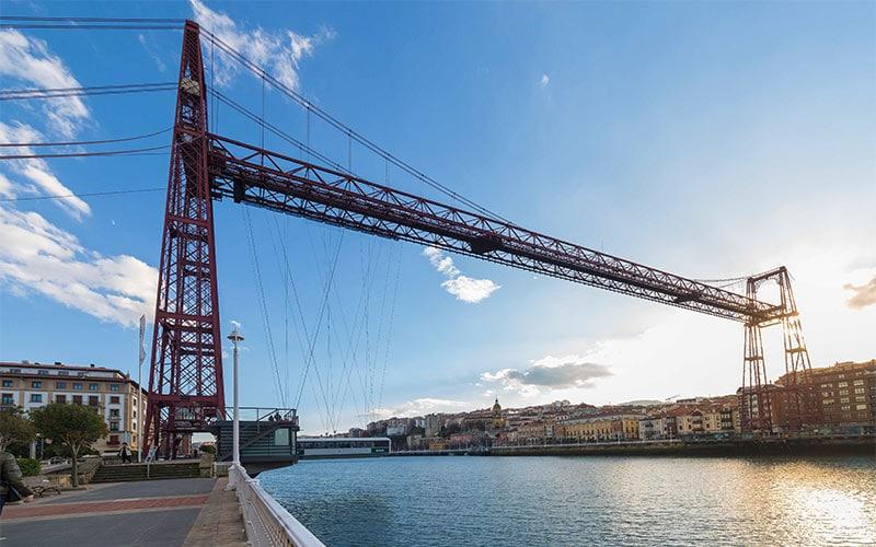 barco bilbao Puente colgante