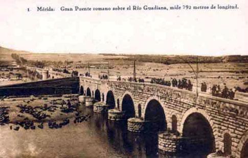 antiguo puente romano merida