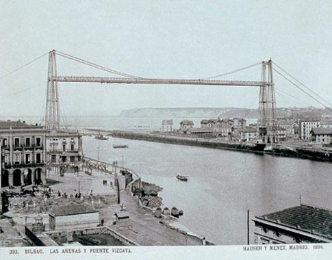 foto antigua puente colgante portugalete