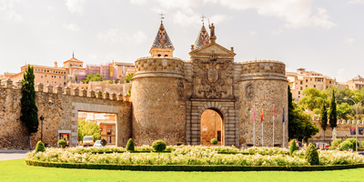 Puerta Bisagra en la ciudad de Toledo