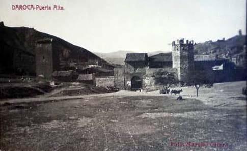 La Puerta Alta de las murallas de Daroca en 1922