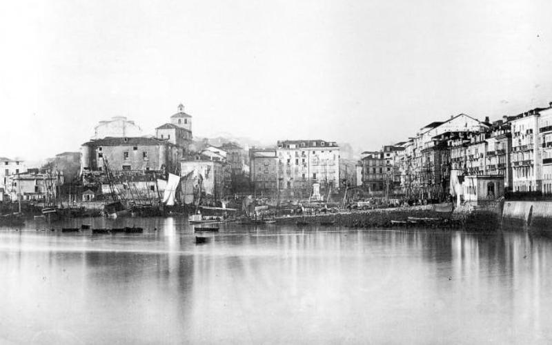 El Puerto de Santander en 1867