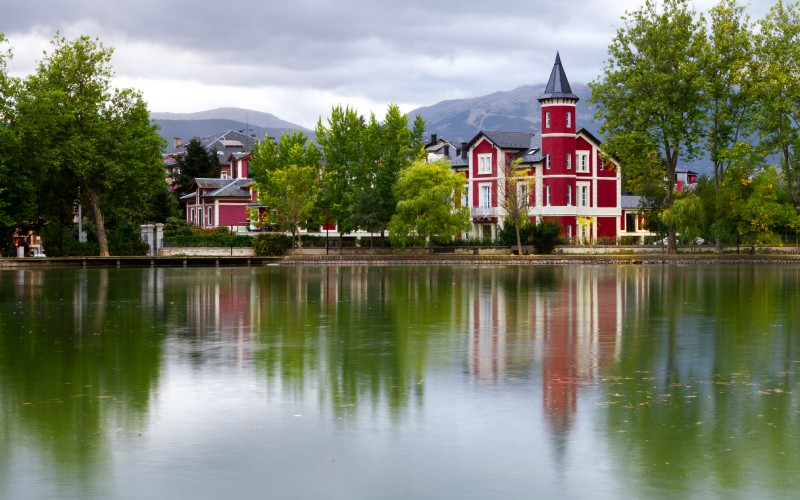 Lago en el parque de Shierbeck, Puigcerdá