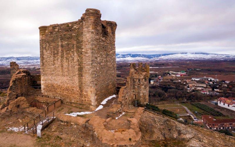El castillo de Quel en invierno