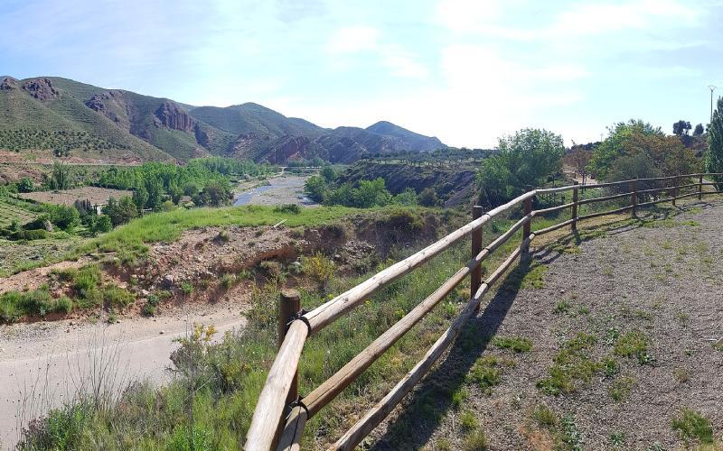 Ruta de la vía verde cerca de Arnedillo