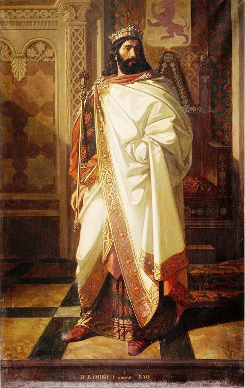Imagen idealizada del siglo XIX de Ramiro I